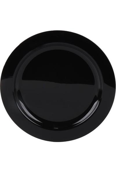 Beysüs Sert Plastik Parti Tabağı Kullanat Parti Tabak Siyah 10'lu
