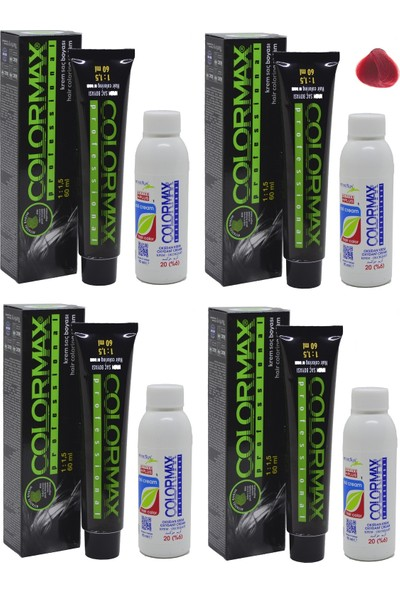 Colormax 006 Kırmızı Düzeltici - Oksidan Krem 90 ml 4'lü