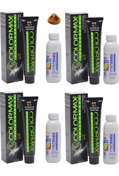 Colormax 8.44 Koyu Sarı Yoğun Bakır - Oksidan Krem 90 ml 4'lü