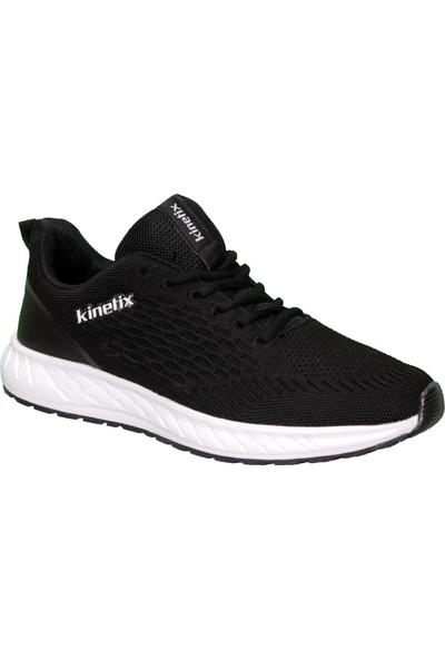 Kinetix Erkek Sneaker Fileli Siyah Spor Yürüyüş Ayakkabısı Venson