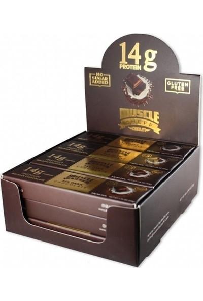 Muscle Cheff Proteinli Çikolata 50 gr 12 Adet