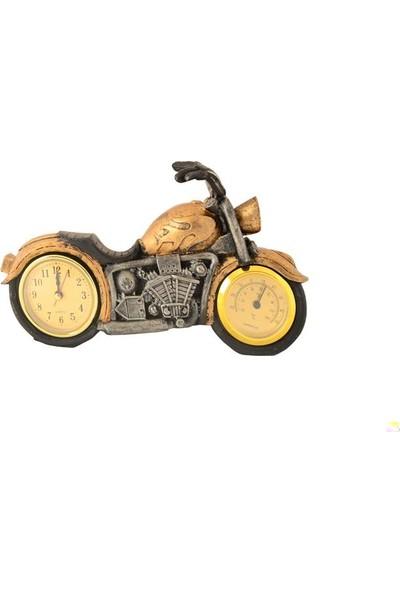 Pologift Polyester Dekoratif Gold 1 Motor Şeklinde Masa Saati