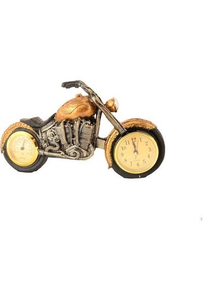 Pologift Polyester Dekoratif Gold Motor Şeklinde Masa Saati