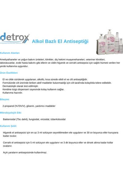 Detrox Detroderm El ve Cilt Dezenfektanı 4 Adet 500 ml