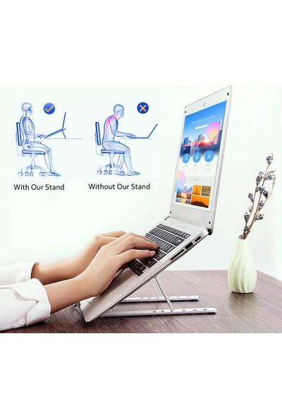 Weather Forecast Aliminyum Ayarlı Laptop Macbook Notebook Yükseltici Tutucu CIN271