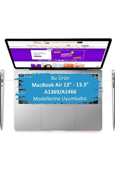 """Mcstorey MacBook Air Kılıf Hard Case A1369 A1466 13"""" Uyumlu Özel Tasarım Özel Kutulu Cat 01NL"""