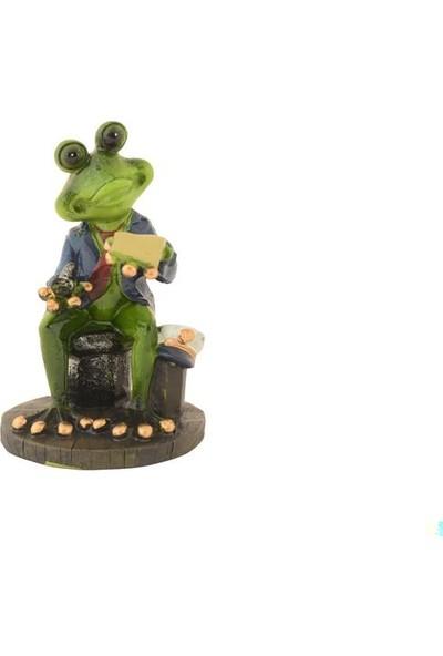 Pologift Polyester Dekoratif Iş Adamı Kurbağa Obje