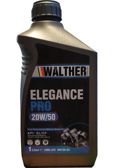 Walther Elegance Pro 20W/50 Mineralli Motor Yağı