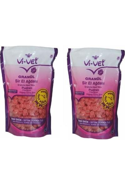 Vi-Vet Granül Soyulabilir Boncuk Sir Ağda Pudralı 250 gr 2 Adet