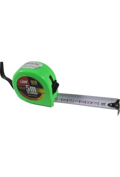 UGR Şerit Çelik Metre 25 mm 5 m Yeşil