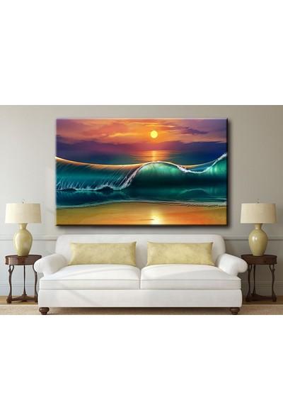 Dekoyes Dalgalar Kanvas Tablo 30 x 20 cm
