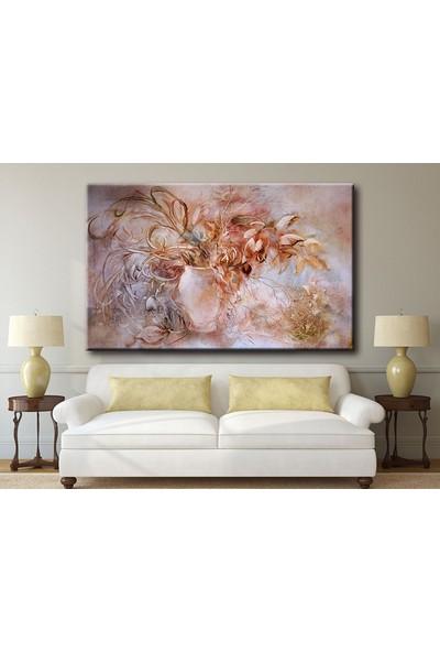 Dekoyes Vazoda Solgun Çiçekler Kanvas Tablo 30 x 20 cm