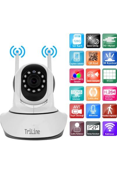Triline IPC10 Ip Kamera 1mp Hd Wifi Hareketli Güvenlik Kamerası