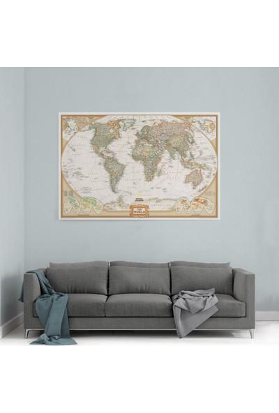 Shop365 National Dünya Haritası Kanvas Tablo 105 x 70 cm SA-1725