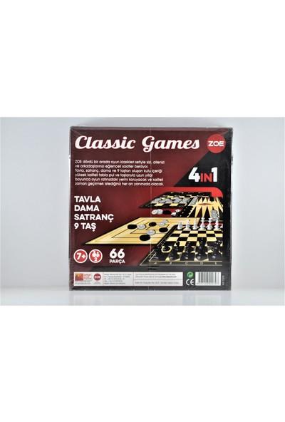 Zoe Classic Games Satranç Dama Tavla 9 Taş