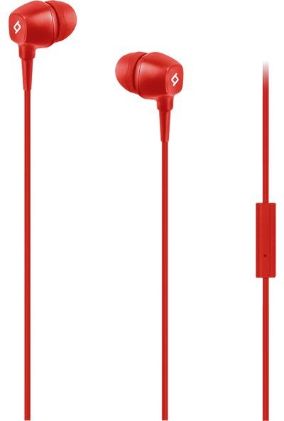 Ttec Pop Mikrofonlu Kulakiçi Kablolu Kulaklık - Kırmızı
