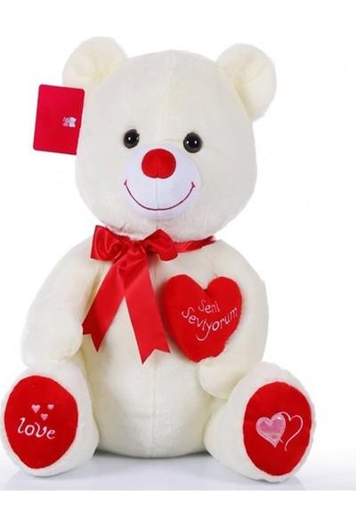 Selay Toys Kalpli Ayıcık 50 cm Krem