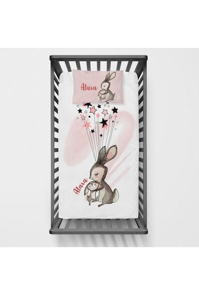 Homamia Kişiye Özel Bebek Yatak Örtüsü Tavşan