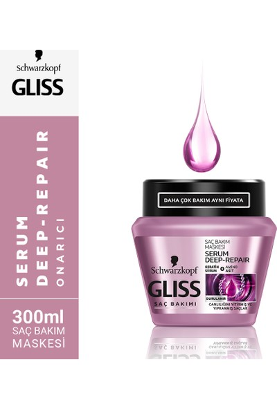 Gliss Serum Deep Repair Maske 300 ml