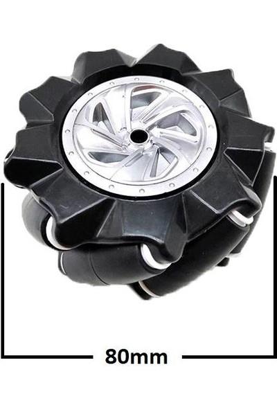 Motorobit 80 mm Omni Mecanum Tekerlek Sağ