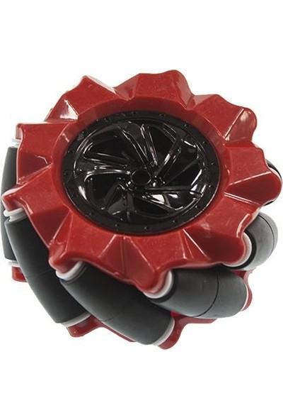 Motorobit 80 mm Kırmızı Omni Mecanum Tekerlek Sağ