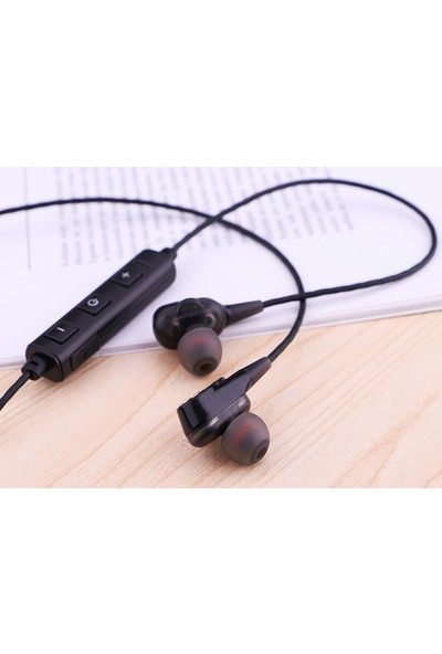Swhy Subwoofer Dört Çekirdekli Dört Hoparlör Su ve Ter Geçirmez Stereo Spor Bluetooth Kulaklık