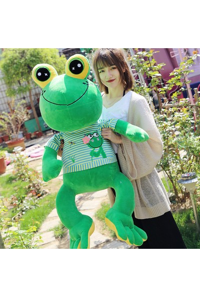 Wz Peluş Oyuncak Kurbağa Prens Bebek Rag Çocuk
