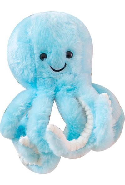 Wz 22 cm Mavi Sevimli Ahtapot Peluş Oyuncak Balina Bebekler İçin Peluş Oyuncak
