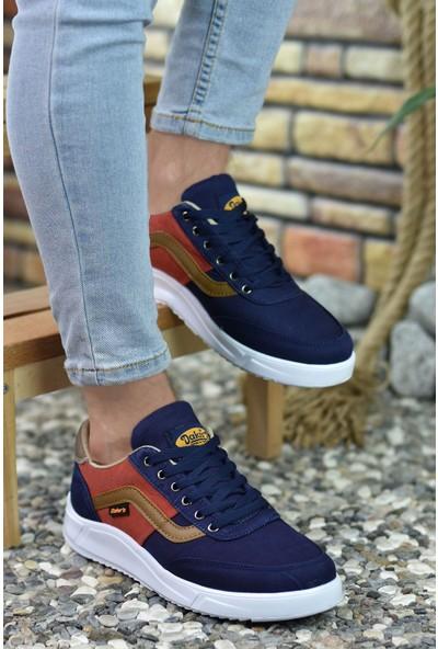 Riccon Lacivert Kırmızı Vizon Erkek Sneaker 00122001