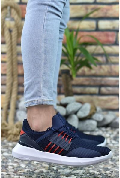Riccon Lacivert Kırmızı Erkek Sneaker 00122338