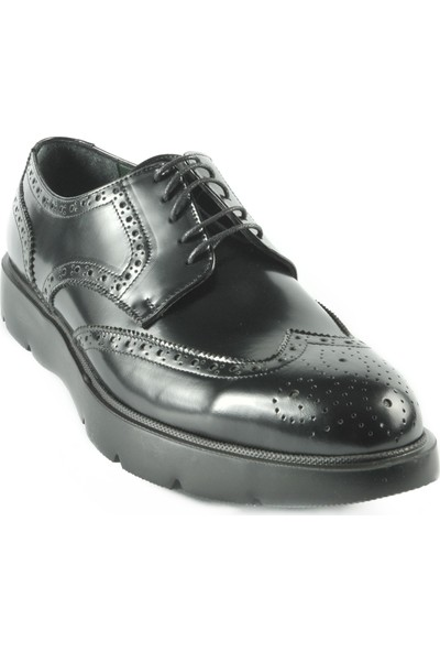 J Club Deri Oxford Siyah Erkek Ayakkabı
