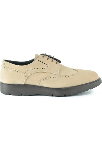J Club Deri Oxford Bej Erkek Ayakkabı