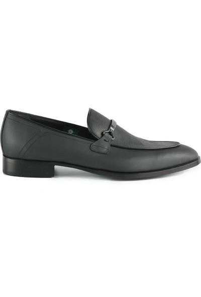 J Club Deri Tokalı Siyah Erkek Ayakkabı