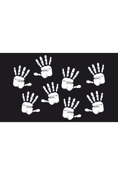 Oracal Eller 120 x 85 Beyaz Duvar Sticker