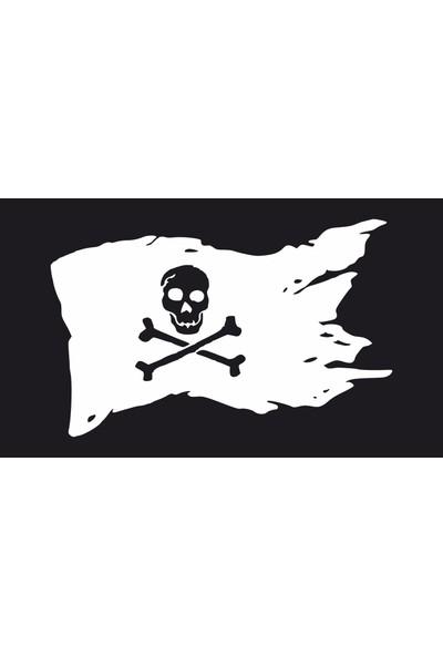 Oracal Korsan Bayrağı 100 x 63 Beyaz Duvar Sticker