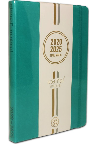 Eternal Minimal TURKUAZ Bullet Journal 2020-2025 Tarihli A5 Noktalı Defter