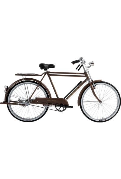 Bisan Roadstar Classic Hizmet Bisikleti 2020 Üretim 26 Jant Çubuk Fren Metalik Kahverengi