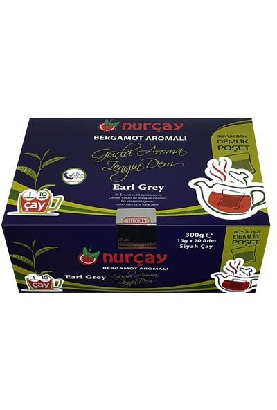Nurçay Earl Grey Bergamot Aromalı Çay 20'li 300 gr