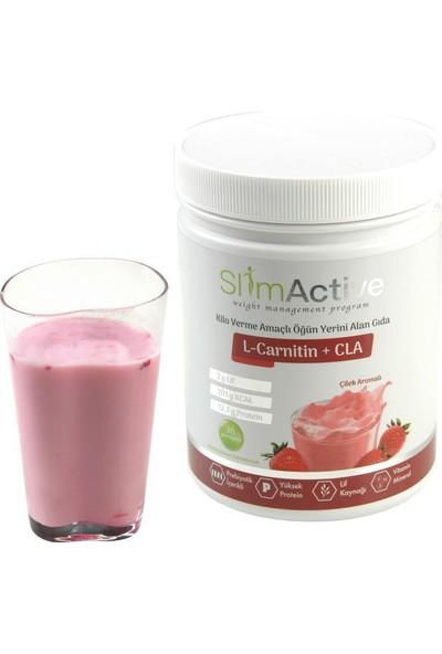 Slim Active Kilo Verme Amaçlı Öğün Yerini Alan Gıda Çikolata ve Çilek Aromalı 2'li Paket Süt Protein L-Carnitin CLA Prebiyotik Stevia