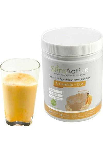 Slim Active Kilo Verme Amaçlı Öğün Yerini Alan Gıda Çikolata Çilek Muz ve Vanilya Aromalı 4'lü Paket Süt Protein L-Carnitin CLA Prebiyotik Stevia