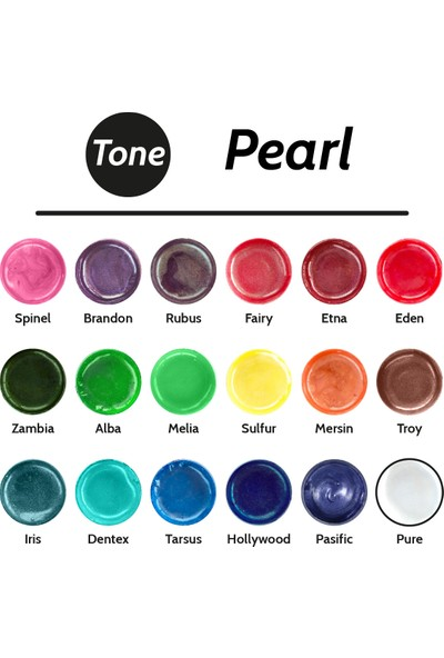 Resinin Tone Pearl Spinel Epoksi Pigment Renklendirici Sedef Renk Spinel 30 ml