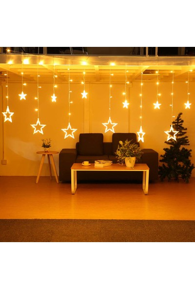 Patladı Gitti Usb'li Yıldızlı Perde LED Işık 2,5 x 1 m