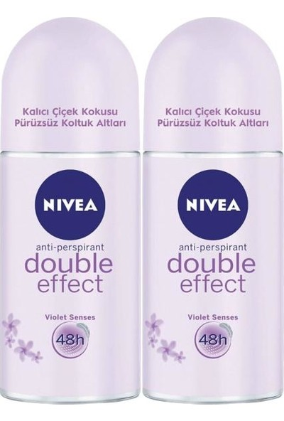 Nivea Double Effect Kadın Deodorant Roll-On 50 ml 2'li
