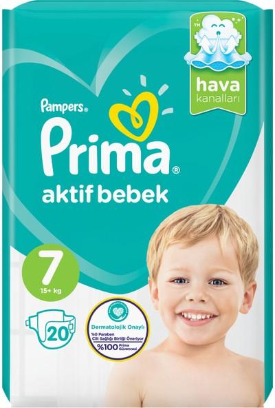 Prima Bebek Bezi Aktif Bebek 7 Beden 20 Adet Standard Paket