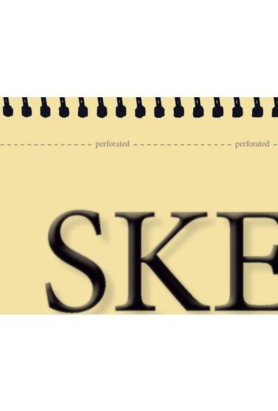 Etika Eskiz Defteri A5 100 Yaprak Spiralli Ivory Sketchbook 80 gr