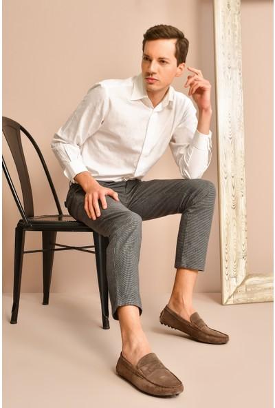Uniquer Erkek Deri Ayakkabı 10134U 10043 Koyu Vizon