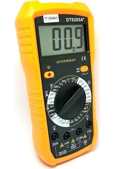 Tt-Technic DT-9205A+ Dijital Multimetre Ölçü Aleti
