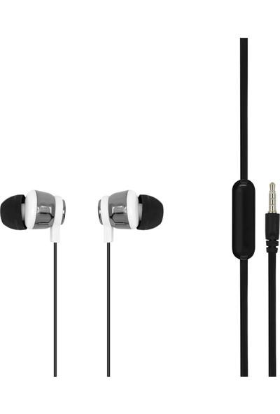 MF Product Acoustic 0096 Mikrofonlu Kablolu Kulak İçi Kulaklık Siyah