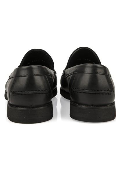 Ziya Erkek Deri Ayakkabı 101415 686183 Siyah