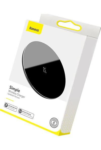 Baseus WXJK-B01 Simple Wireless Kablosuz Şarj Cihazı Siyah